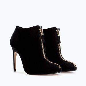 Zara High Heel Ankle Boot with Zip